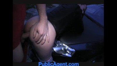 PublicAgent Pretty brunette fucked outside in the middle of nowhere