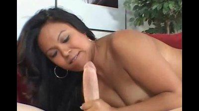 Asian Hottie Handjob Big Stiff Cock