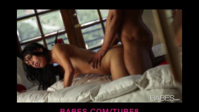 Beautiful brunette teen loves being passionately eaten out