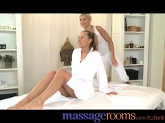 Preview 1 of Massage Rooms Raunchy Lesbian Threesome After Sensual Oil Massage