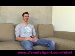 FemaleAgent. MILF tests students endurance