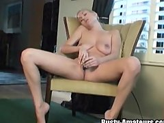 Autumn is flying to Heaven when moving dildo inside the cunt