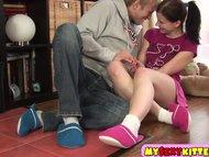 Babe/sex/cute teenage the brunette floor