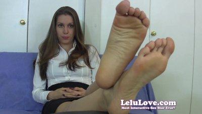 Lelu Love-Embarrassed Secretary Foot Fetish