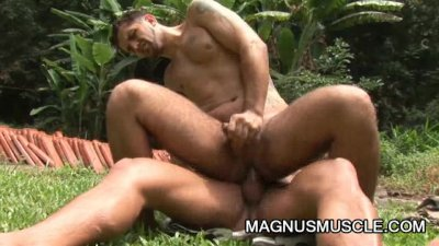 Junior Pavanello And Yuri Bryan - Muscular Army Men Outdoor Anal Fucking