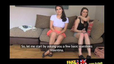FakeAgentUK Two girls happy to