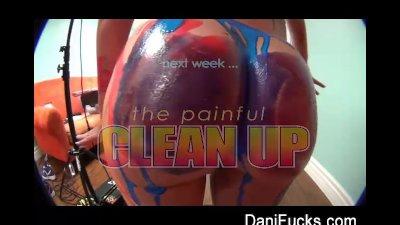 Dani Daniels Liquid Latex fun