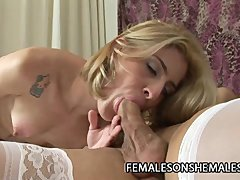 Isabelly Ferraz   Big Cock Shemale Plowing A Tight Wet Pussy