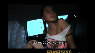 FakeTaxi Hot young Czech girl sucks cock to pay for her ride