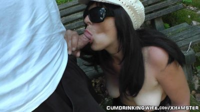 Dogging wife fucked in the par