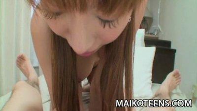 Chihiro Ozawa - Sweet Japan Teen Receives A Creamy Facial Load