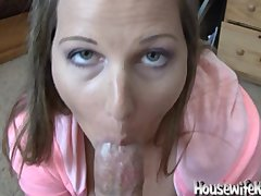 Pretty wife loves to swallow cum