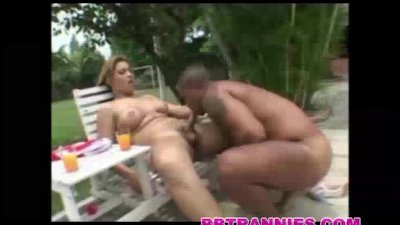 A muscular black man fucked by a tranny