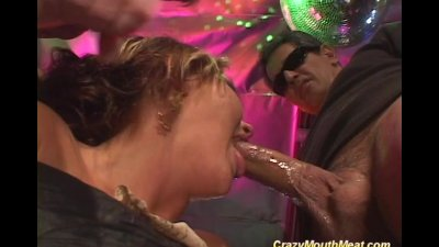 Crazy mouth meat blowbang hard sex with huge cocks