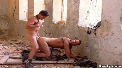 Beefy Gay Soldier Fucking with Boyfriend