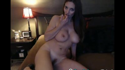 Huge Tits Babe Rides her Dildo Slowly