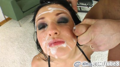 Aletta Ocean gets bukkaked by