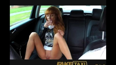 FakeTaxi Long red hair and a n