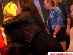 Party girls lick a male stripper all over