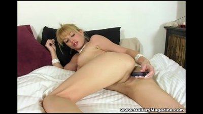 Busty Angie Savage Blonde Masturbation