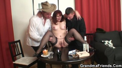 image Threesome after poker with old woman