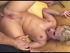 : Sexy maid in black thigh highs likes anal sex