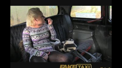 FakeTaxi Young blonde takes on old cock
