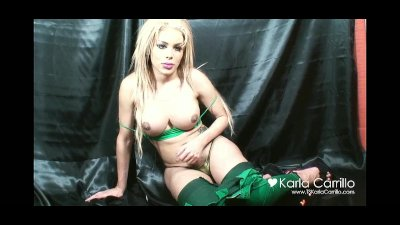 Karla Carrillo in a green tank top