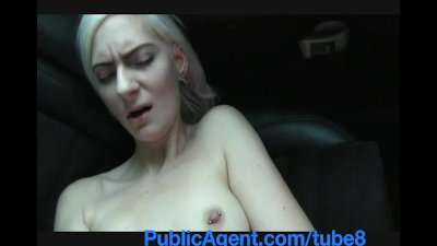 PublicAgent Blonde stunner shows sexy ebony underwear and gets pounded