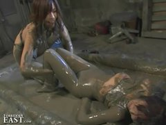 Japanese FemDom Mud Wrestling   Strange But True