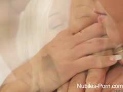 Nubiles Porn - Cute porn newcomer gets a mouthful of sperm