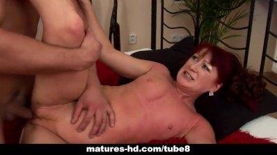 Mature redhead Esmeralda gets a fuck