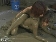 More Japanese FemDom Messy Mud Wrestling - Strange But True!