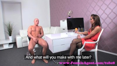 FemaleAgent. Confident stud finishes casting with a sexy creampie