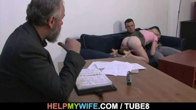Stranger pleases his young wife