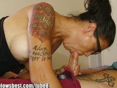 MommyBB Dana Vespoli caughts her stepson jerking off