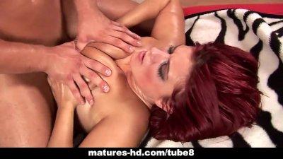 Mature redhead slag kamila gets screwed hard 10