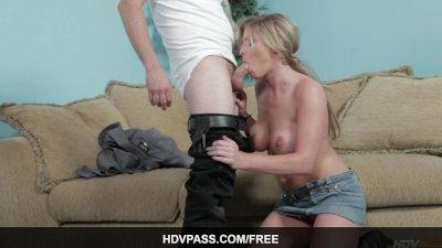 Sexy MILF blonde Brianna Brooks Sucks and Fucks Sheriff