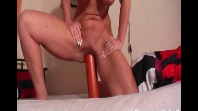 Giant salami fuck and outdoor fisting orgasms