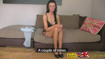 FakeAgentUK Sexy fake casting amateur takes huge cumshot in mouth