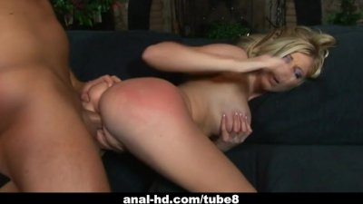 Busty blonde slut Michelle B works a dick
