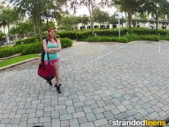 Preview 1 of Stranded Teens - Hot Redhead Rainia Belle Needs A Ride