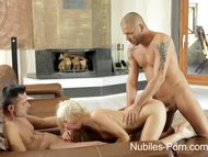 nubiles porn - anal spit roast for cum hungry coedPorn Videos