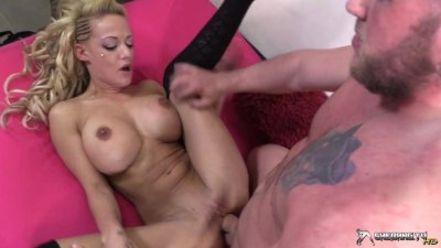 Sexy blonde slut gets her juicy pussy licked & fucked