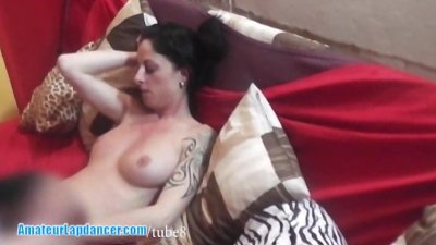 Licking pussy of this super hot lapdancer