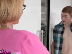 Moms Bang Teens - Mellanie plays with young couple