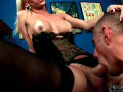 Preview 3 of Pinko Shemales Big Tits Blonde Shemale Fucked