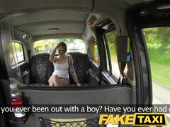 Preview 2 of Faketaxi Lesbian Gets Tricked Into Taking Big Cock