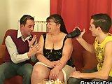two dudes bang mature fattyPorn Videos