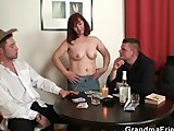 oldie in stockings takes two rodsPorn Videos